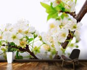 Plum Tree Flower wallpaper mural kitchen preview