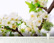 Plum Tree Flower wallpaper mural in-room view