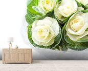 Cabbage Flowers mural wallpaper living room preview