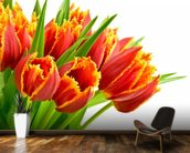 Orange Tulips wallpaper mural kitchen preview