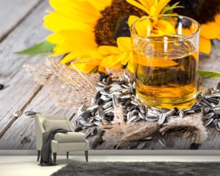 Fresh Sunflower Oil wall mural