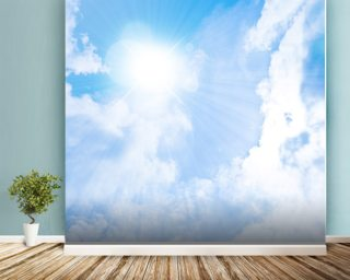 Sunlight Through Clouds Mural Wallpaper Wall Murals Wallpaper