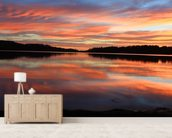 Sunrise Reflections Narrabeen Lakes wall mural living room preview