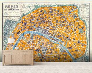 Map of Paris 1926 wall mural