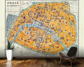 Map of Paris 1926 wall mural kitchen preview