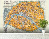 Map of Paris 1926 wall mural in-room view