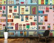 Cartoon Street Map mural wallpaper kitchen preview