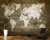 World Map on Wood wall mural kitchen preview
