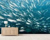 A School of Fish wall mural living room preview