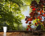 Jungle Canopy mural wallpaper kitchen preview