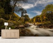 Mountain River wallpaper mural living room preview