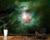 The Cosmic Hearth wallpaper mural kitchen preview
