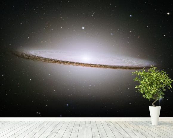 Galaxy Wall Mural the majestic sombrero galaxy (m104) wallpaper wall mural