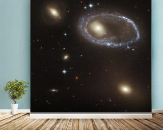 Blue Stars Ring Nucleus of Galaxy AM 0644-741 mural wallpaper