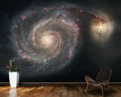 Out of This Whirl: the Whirlpool Galaxy (M51) and Companion Galaxy wall mural kitchen preview