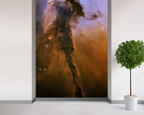 The Eagle Has Risen: Stellar Spire in the Eagle Nebula wallpaper mural room setting