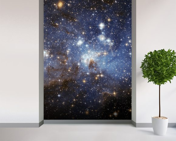 Star-Forming Region LH 95 in the Large Magellanic Cloud wallpaper mural room setting