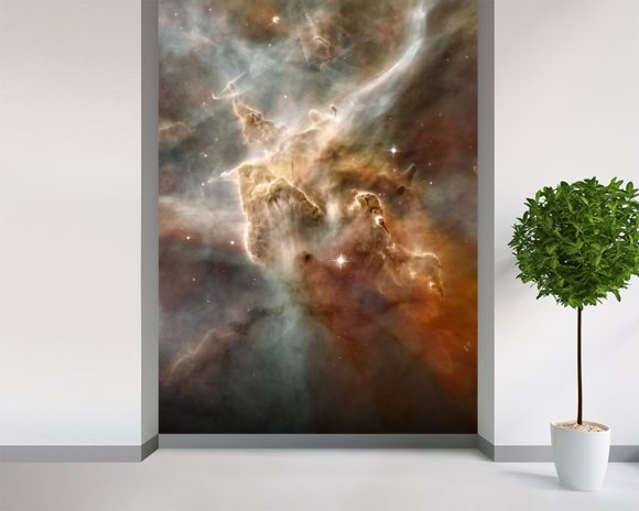 Star-Forming Region in the Carina Nebula: Detail 1 mural wallpaper room setting
