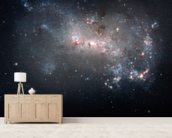 Stellar Fireworks Are Ablaze in Galaxy NGC 4449 mural wallpaper living room preview