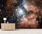 Star Cluster Bursts into Life in New Hubble Image wallpaper mural living room preview
