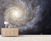 Spiral Galaxy M74 mural wallpaper living room preview