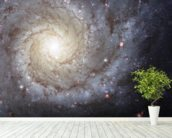 Spiral Galaxy M74 mural wallpaper in-room view
