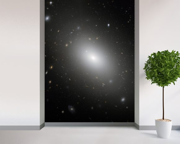 Elliptical Galaxy NGC 1132 - Hubble wallpaper mural room setting