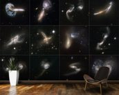 Cosmic Collisions Galore! wallpaper mural kitchen preview