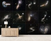 Cosmic Collisions Galore! wallpaper mural living room preview