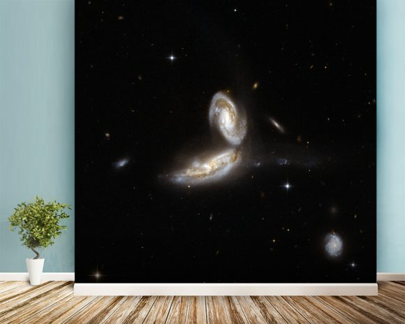 Hubble Interacting Galaxy NGC 5331 mural wallpaper room setting