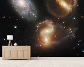 Galactic Wreckage in Stephan's Quintet wall mural living room preview