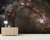 Star Birth in Galaxy M83 wall mural living room preview