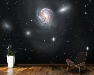 "An ""Island Universe"" in the Coma Cluster mural wallpaper"