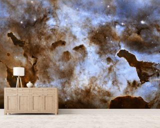 Cosmic Ice Sculptures: Dust Pillars in the Carina Nebula wall mural