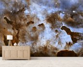 Cosmic Ice Sculptures: Dust Pillars in the Carina Nebula wall mural living room preview