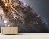 Active Galaxy Centaurus A mural wallpaper living room preview