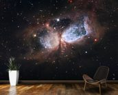 Hubble/Subaru Composite Image of Star-Forming Region S106 mural wallpaper kitchen preview
