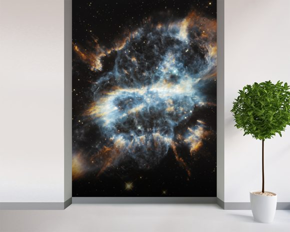 A Cosmic Holiday Ornament, Hubble-Style wall mural room setting