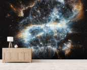 A Cosmic Holiday Ornament, Hubble-Style wall mural living room preview