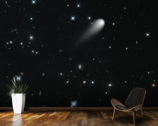 Galaxies, Comets, and Stars! Oh My! Wallpaper Mural Wall Murals Wallpaper