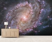 Spiral Galaxy M83 mural wallpaper living room preview