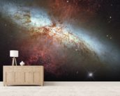 M82 Hubble Mosaic with 2014 Supernova wall mural living room preview