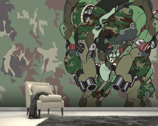 Woodland Camo Protection Bot (2012) Wallpaper Wall Murals Wallpaper
