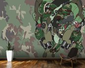 Woodland Camo Protection Bot (2012) wallpaper mural kitchen preview