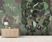 Woodland Camo Protection Bot (2012) wallpaper mural living room preview