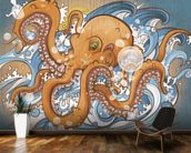 Surfing the 8 Legged Waves (2013) mural wallpaper kitchen preview