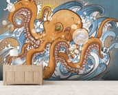 Surfing the 8 Legged Waves (2013) mural wallpaper living room preview