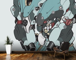 Default Protection Bot (2012) Wall Mural Wall Murals Wallpaper