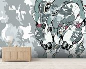 Urban Camo Protection Bot (2012) mural wallpaper living room preview