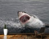 Great White Shark wall mural kitchen preview